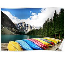 Moraine Lake, Banff Nat. Park Poster