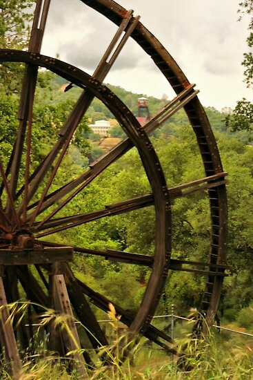 Kennedy Mine Tailing Wheel by Barbara  Brown