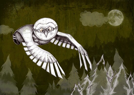 """""""Owlman Hunting"""" by rosell"""