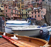 Dinghys at Manarola by Allison Peters