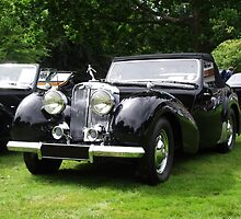 Triumph Roadster   1946-48 Black by Dawnsuzanne