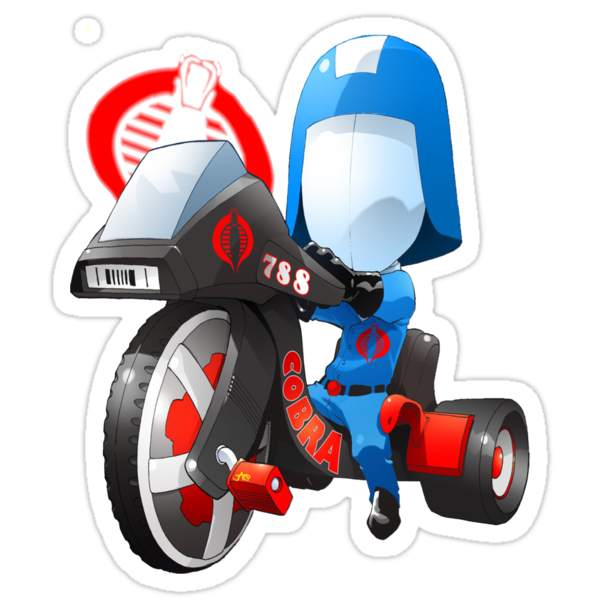 Cobra Commander on 80's big wheel by dormworld