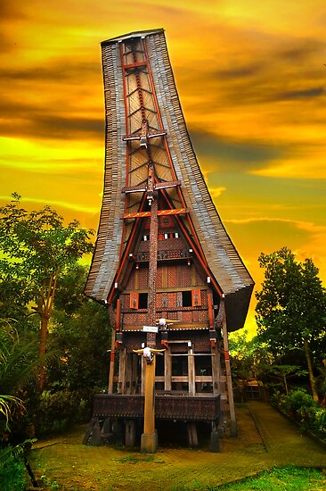 Toraja Architecture, Sulawesi, Indonesia (Please Enlarge) by Charuhas  Images