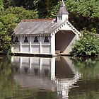 Reflected Boat House by Lizzylocket