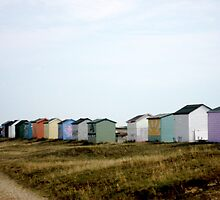 Kent Beach Huts by Kathy Dellow