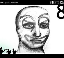 September 8th - The opposite of a clown by 365 Notepads -  School of Faces