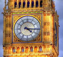 The Face Of Big Ben - HDR by Colin  Williams Photography