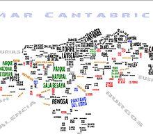 Mapa de Cantabria Toponímico by vaywatch