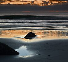 Ocean sunrise, Gold Coast by Odille Esmonde-Morgan