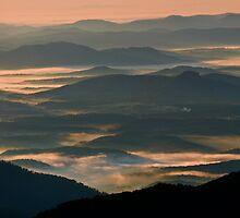 Foggy Layers-Blue Ridge Mountains by Donna Eaton