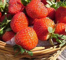 Basket of Strawbs by Gary Kelly