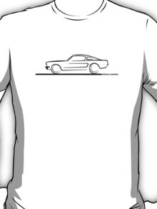 1964 65 66 Ford Mustang Fastback T-Shirt