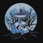 Skull Meditation Color by kgosselinart