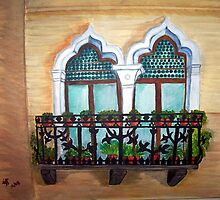 The Balcony by TrixiJahn
