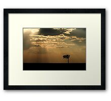 Sunset Over Masai Mara, Kenya II Framed Print