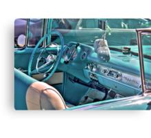 Chevy Bel-Air Convertible-interior Metal Print