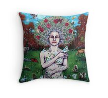'A Portrait of Mother Nature' Throw Pillow