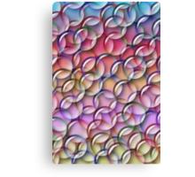 A Rainbow of Bubbles Canvas Print