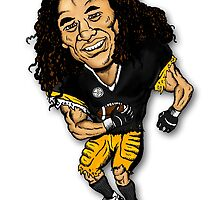 Troy Polamalu by ZugArt