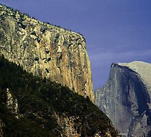 El Capitan and Half Dome in Yosemite by Michael Lehman