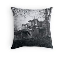 Old House on the Hill Throw Pillow