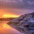Sunset vs Rock by Bob Larson