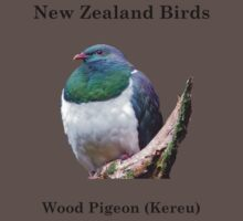 Wood Pigeon T-Shirt - New Zealand Bird Series  by AndreaEL