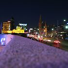 Melbourne at night by Violeta Ignatovic