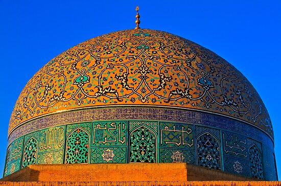 The Dome of Sheikh Lotf Allah Mosque - Esfahan - Iran by Bryan Freeman