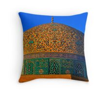 The Dome of Sheikh Lotf Allah Mosque - Esfahan - Iran Throw Pillow