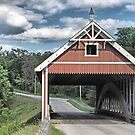Netcher Road Covered Bridge by Monnie Ryan