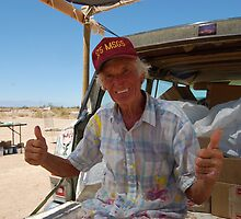 Leonard Knight. The man behind salvation mountain. by Amanda Huggins