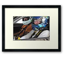 Guess who goes racing?! Framed Print
