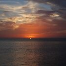 August 31 2010 Sunset from Longboat Key Florida by Raina DeVaney