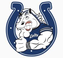 Colts Cartoon Football Logo by Jeff Smith