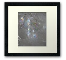 Angelic face in clear quartz Framed Print