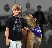 Boy and his Great Dane by Joe Randeen