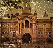 ~ Vintage Cartwright Hall, Aged And Old ~ by Sandra Cockayne