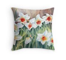 Daffodils Throw Pillow