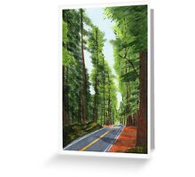 On The Avenue Greeting Card