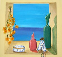 Ocean View & Perfume Bottles by Allegretto