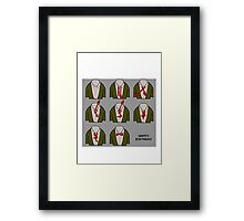 How to doctor who bow tie birthday card Framed Print