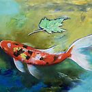 Zen Butterfly Koi by Michael Creese