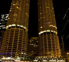 Marina Towers - Chicago, Illinois by Adam Bykowski