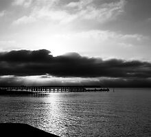 The Grantville Pier under threatening skies by Luke Crozier