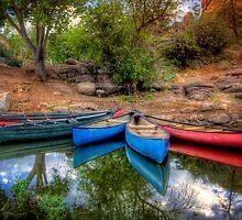 Canoe Reflect by Bob Larson