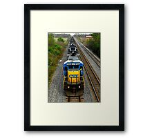 Loaded like a freight train..I'm on the nightrain..Fill my cup ..and I'm ready to crash an' burn  Framed Print
