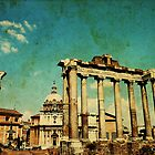 Temples of Saturn &amp; Vespasian, Rome by buttonpresser