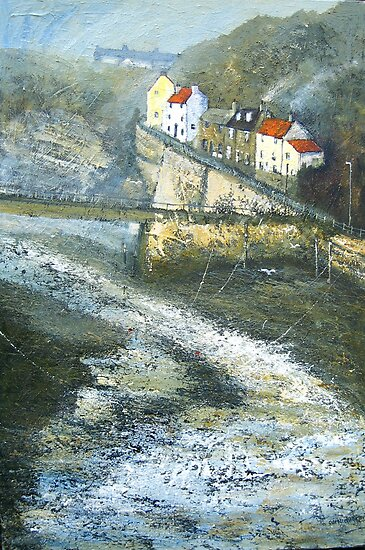 Autumn on Cowbar, Staithes by Sue Nichol