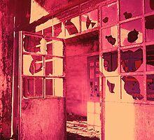 Old factory on IR film - Vieja fábrica con película infraroja by Rafael López